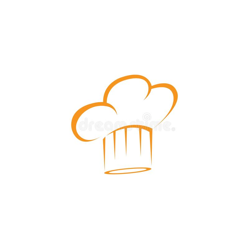 molde do logotipo do cozinheiro chefe do chap?u ilustração do vetor