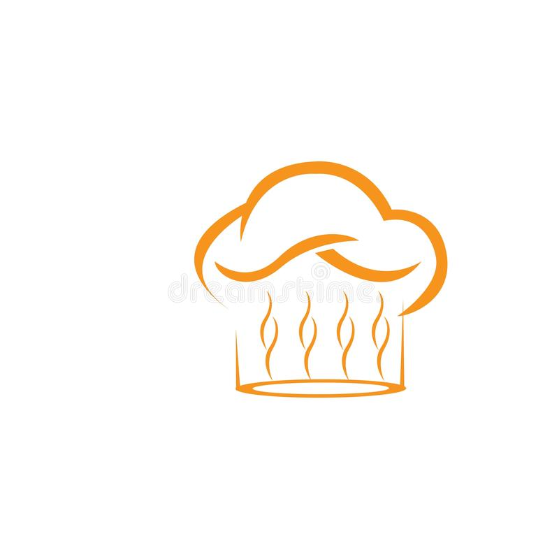 molde do logotipo do cozinheiro chefe do chap?u ilustração royalty free