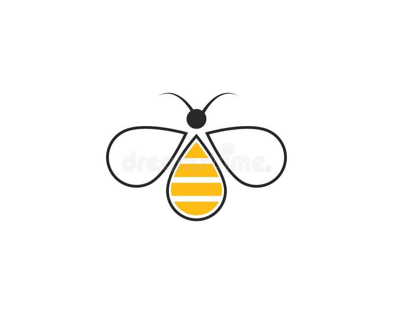 Molde do logotipo da abelha do mel ilustração stock