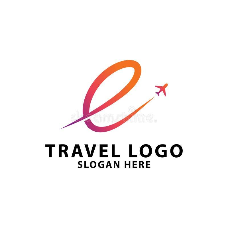 Molde do logotipo da agência de viagens ilustração royalty free