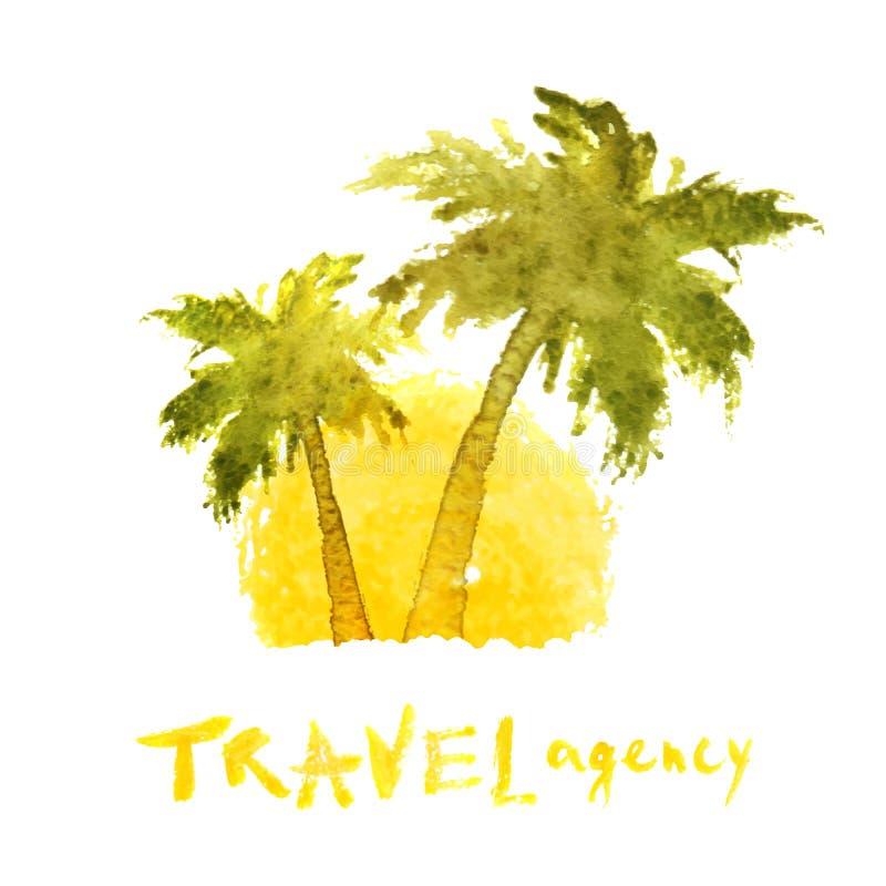 Molde do logotipo da agência de viagens ilustração stock
