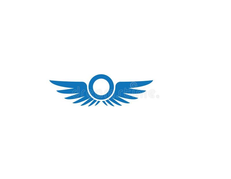 Molde do logotipo da asa ilustração stock