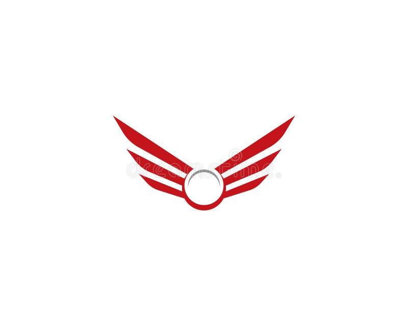 Molde do logotipo da asa ilustração do vetor