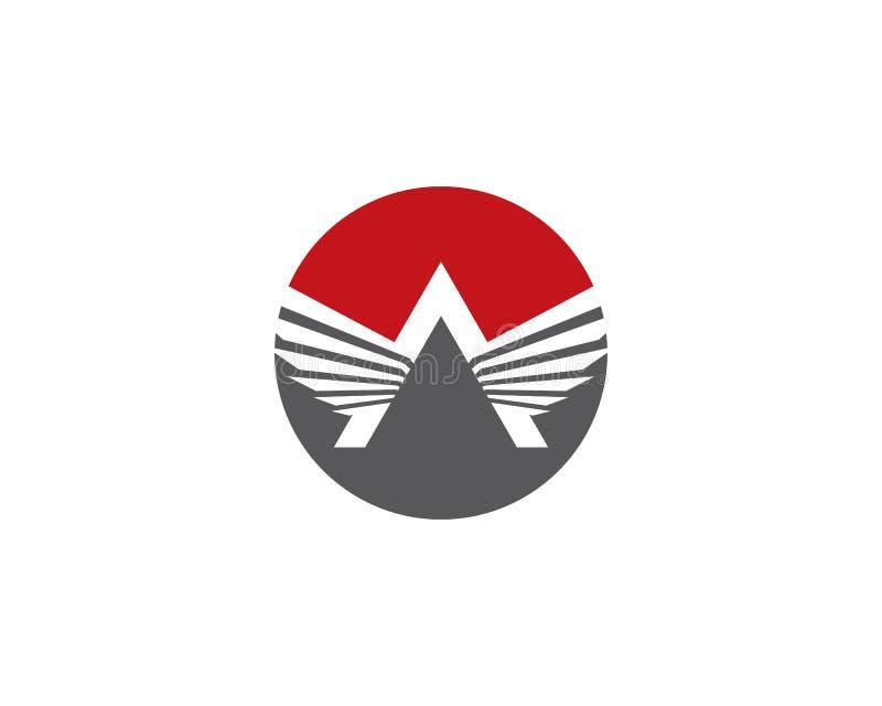 Molde do logotipo da asa ilustração royalty free