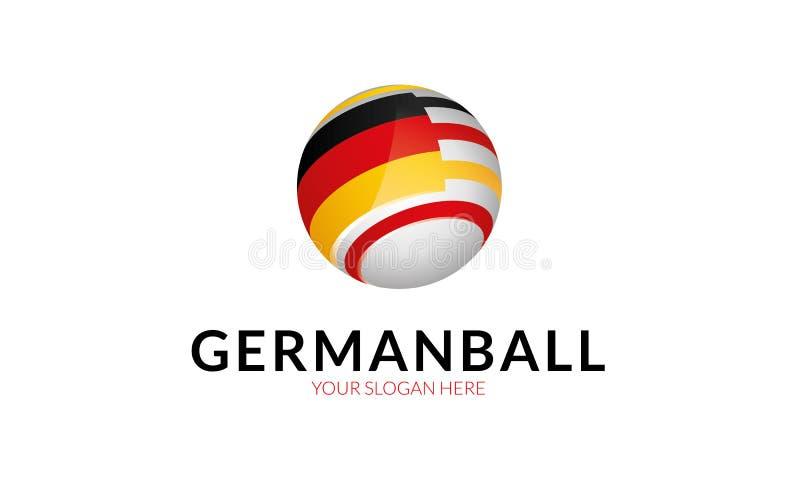 Molde do logotipo da bandeira de Alemanha ilustração do vetor
