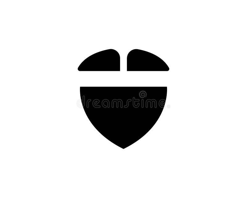 molde do logotipo da barba ilustração do vetor