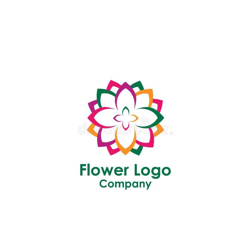 molde do logotipo da beleza, vetor do projeto dos lótus, ícone ilustração stock