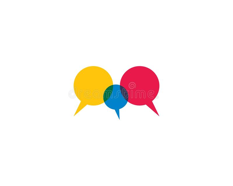 Molde do logotipo da bolha do discurso ilustração stock