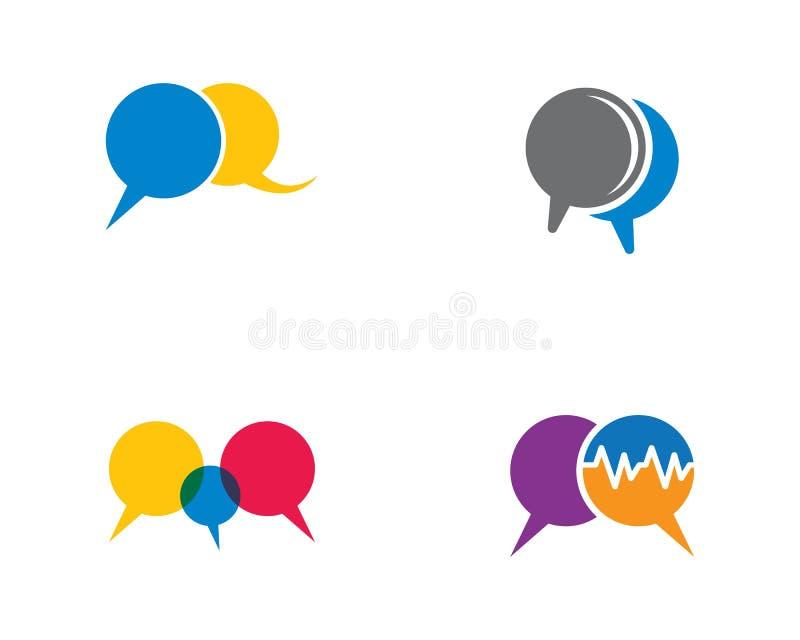Molde do logotipo da bolha do discurso ilustração do vetor