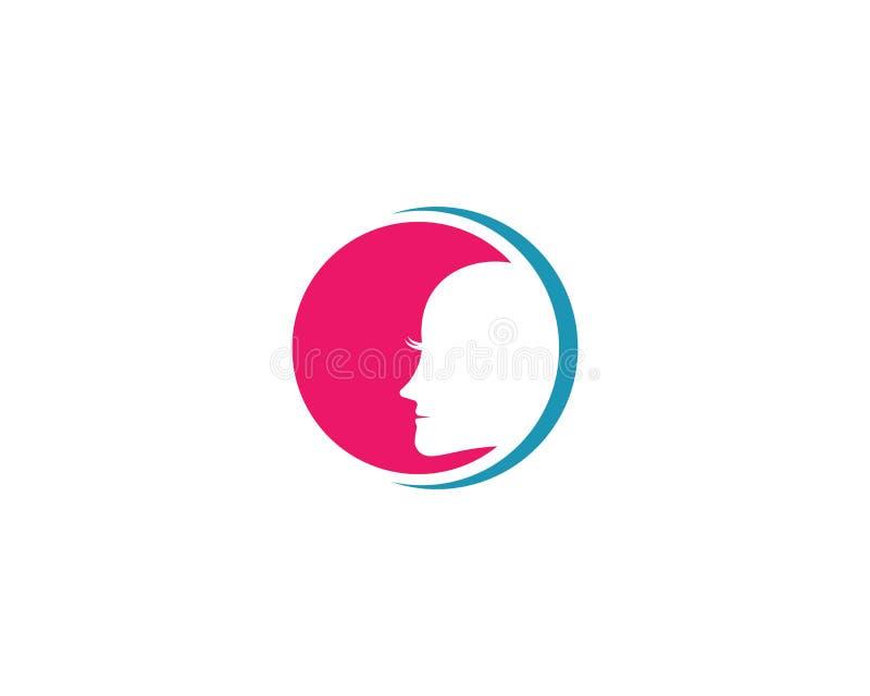 Molde do logotipo da cara ilustração do vetor