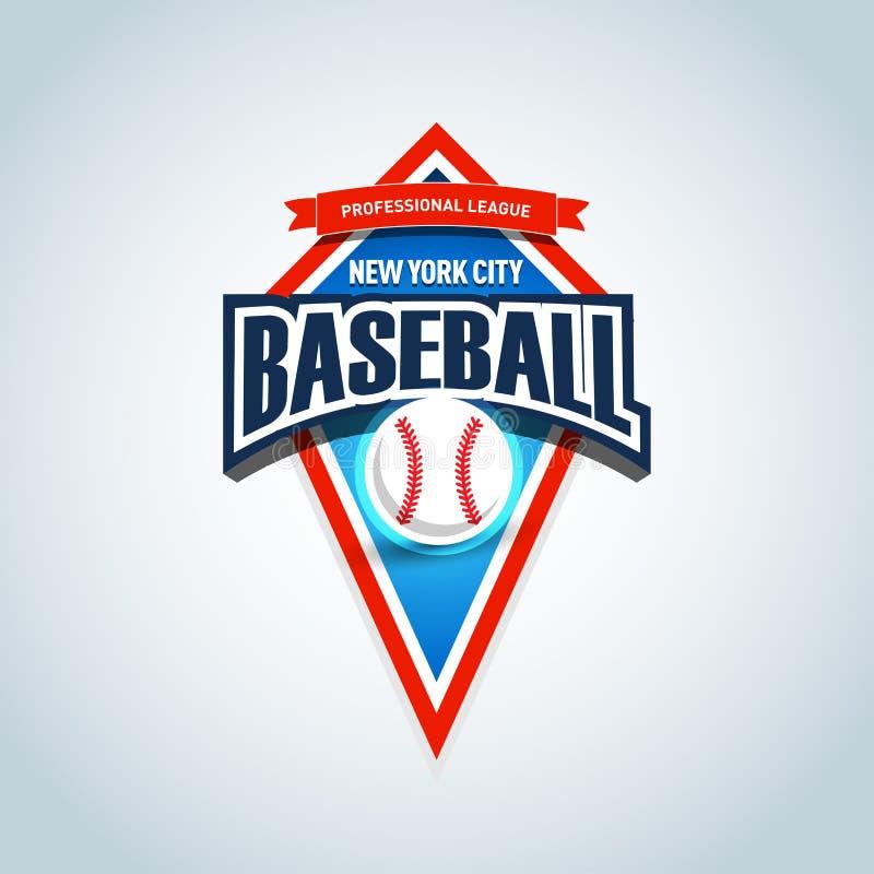 Molde do logotipo da equipa de beisebol Emblema do basebol, molde do logotype, projeto do fato do t-shirt Esfera do basebol Ilust ilustração stock