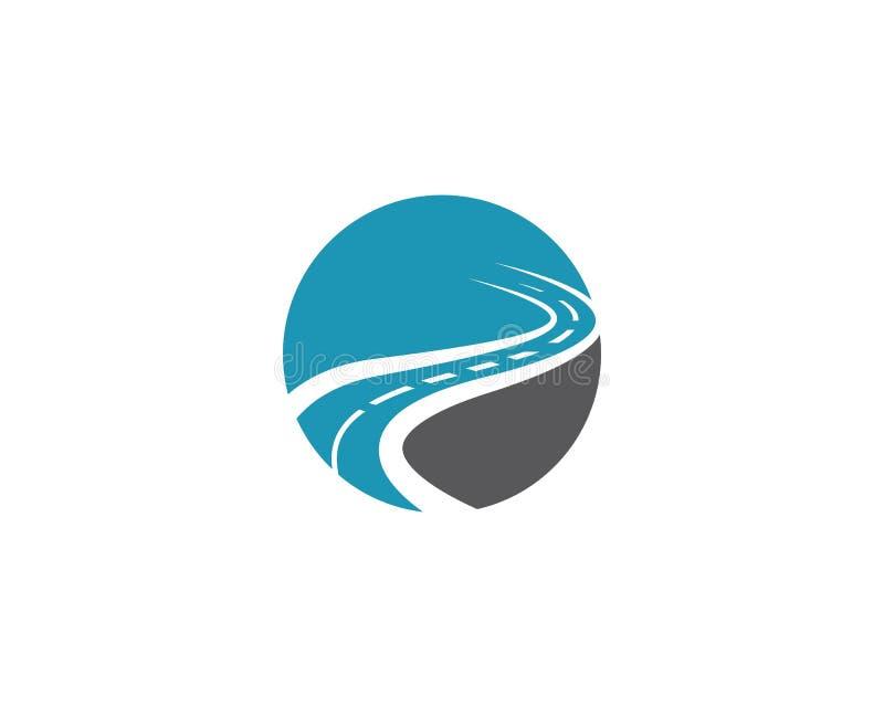 Molde do logotipo da estrada ilustração royalty free