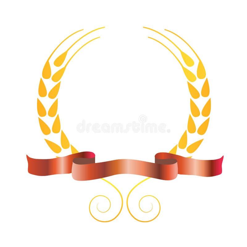 Molde do logotipo da fábrica do trigo da massa do arroz ilustração royalty free