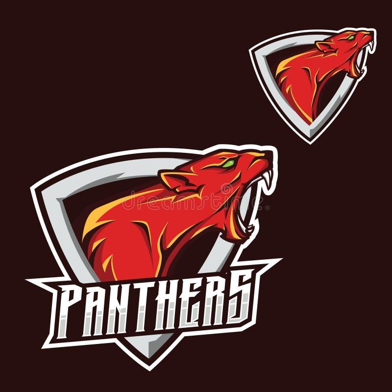 Molde do logotipo da mascote do jogo do esport de viquingue do cavaleiro ilustração stock