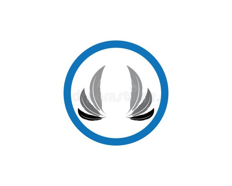 Molde do logotipo da pena da pena ilustração stock
