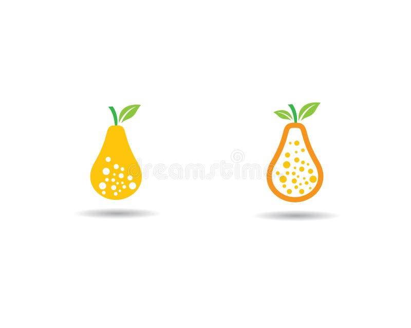 Molde do logotipo da pera ilustração stock
