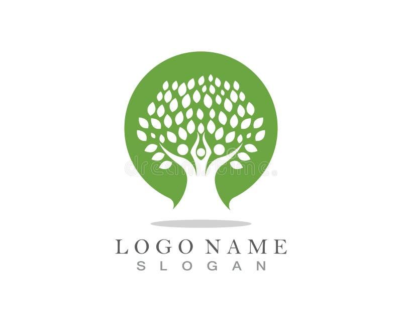 Molde do logotipo da ?rvore geneal?gica ilustração stock
