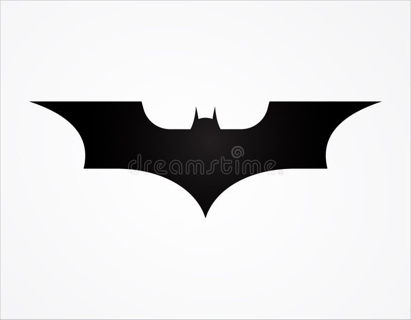 molde do logotipo da silhueta do super-herói do logotipo da asa do batman ilustração do vetor
