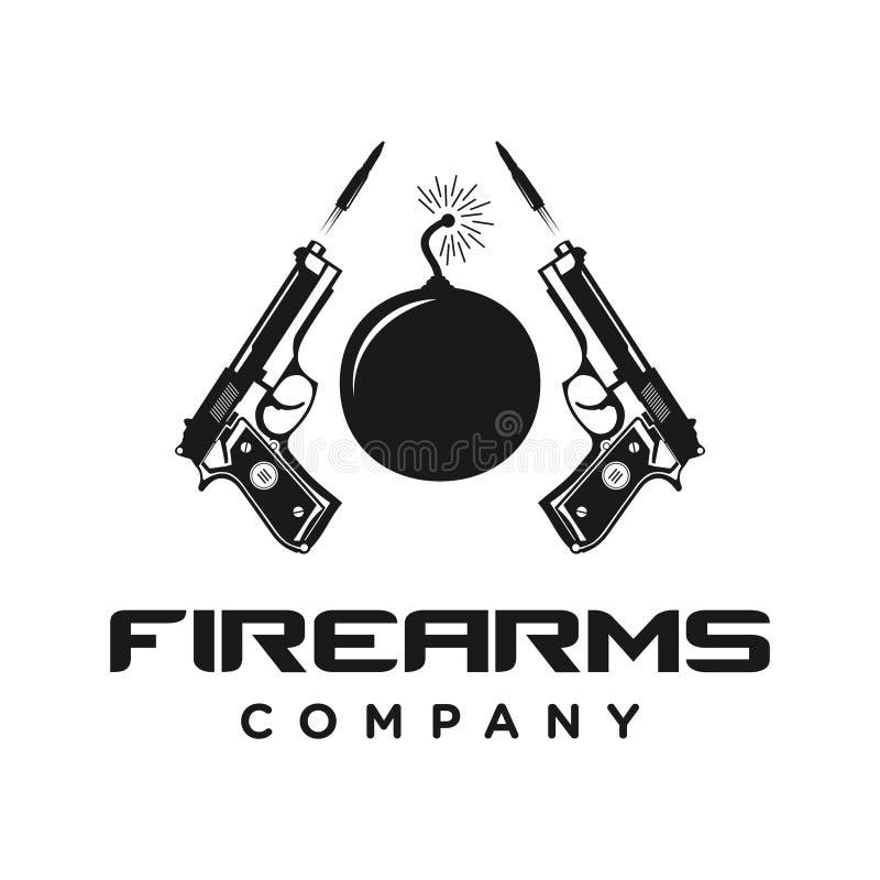 Molde do logotipo das armas de fogo ilustração royalty free