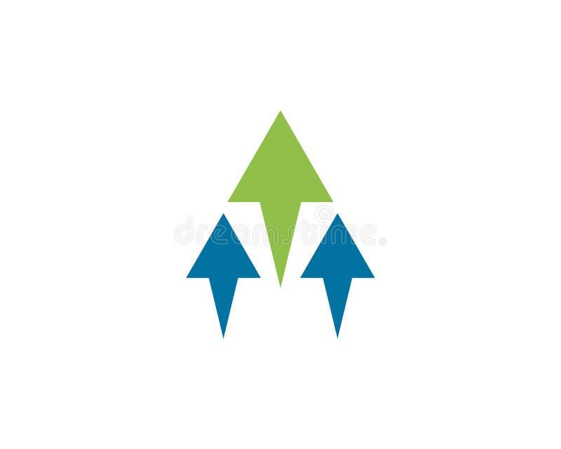 Molde do logotipo das setas ilustração stock