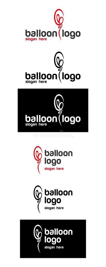 Molde do logotipo do balão imagem de stock