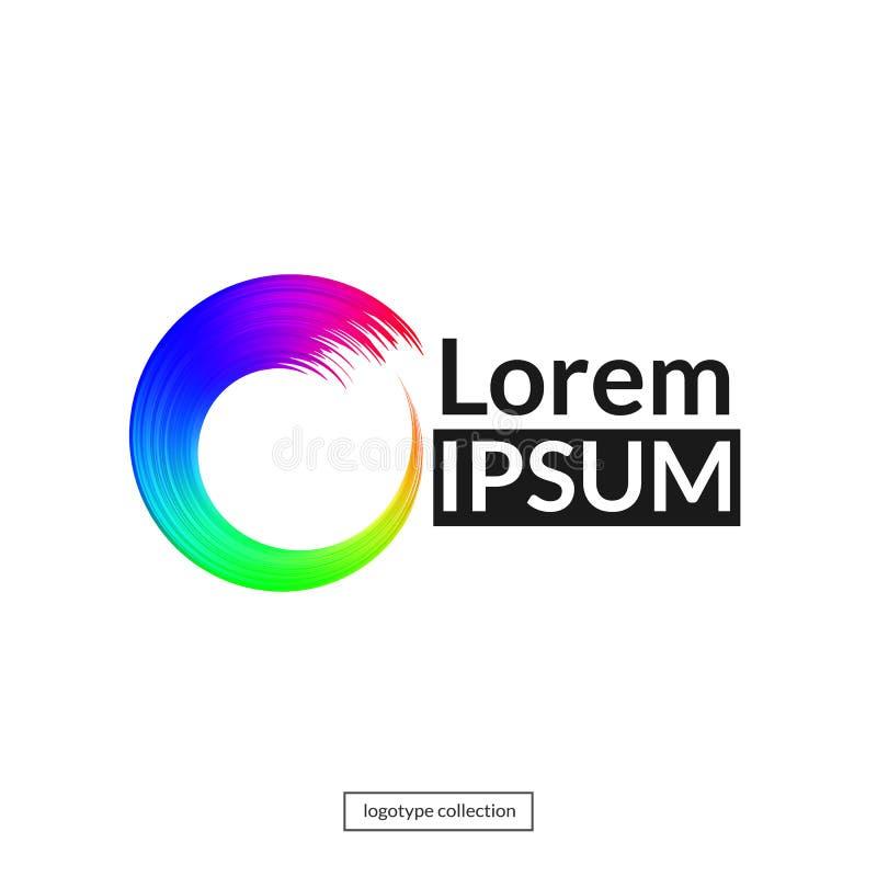 Molde do logotipo do círculo do arco-íris ilustração stock