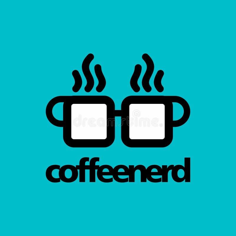 Molde do logotipo do café ilustração royalty free