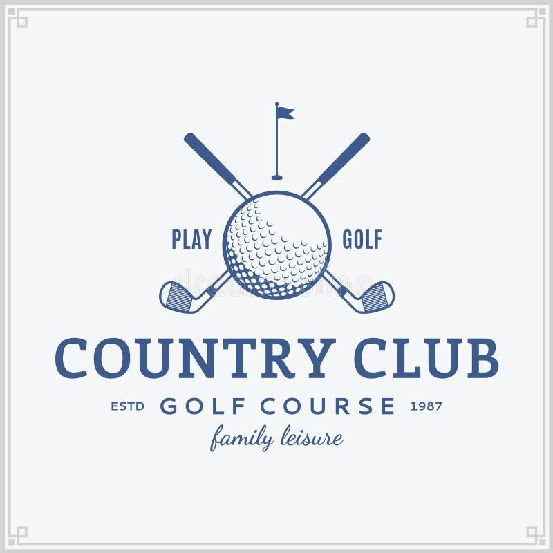 Molde do logotipo do clube do golfe ilustração do vetor