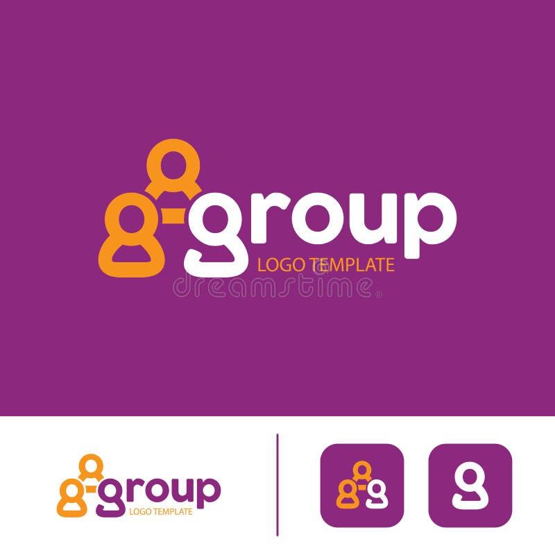 Molde do logotipo do grupo ilustração royalty free