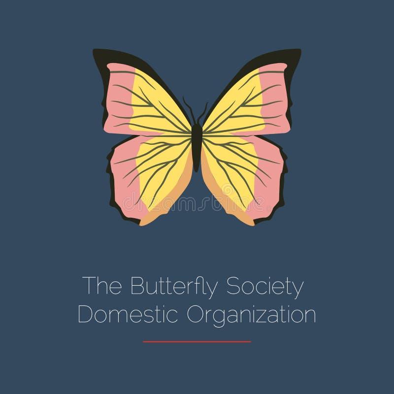 Molde do logotipo do vetor da borboleta Ícone abstrato Elemento do projeto ilustração do vetor