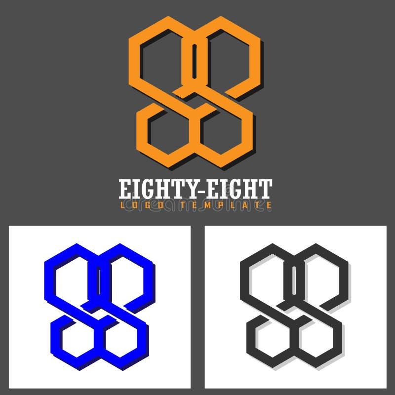 Molde do logotipo do vetor oitenta e oito imagens de stock royalty free