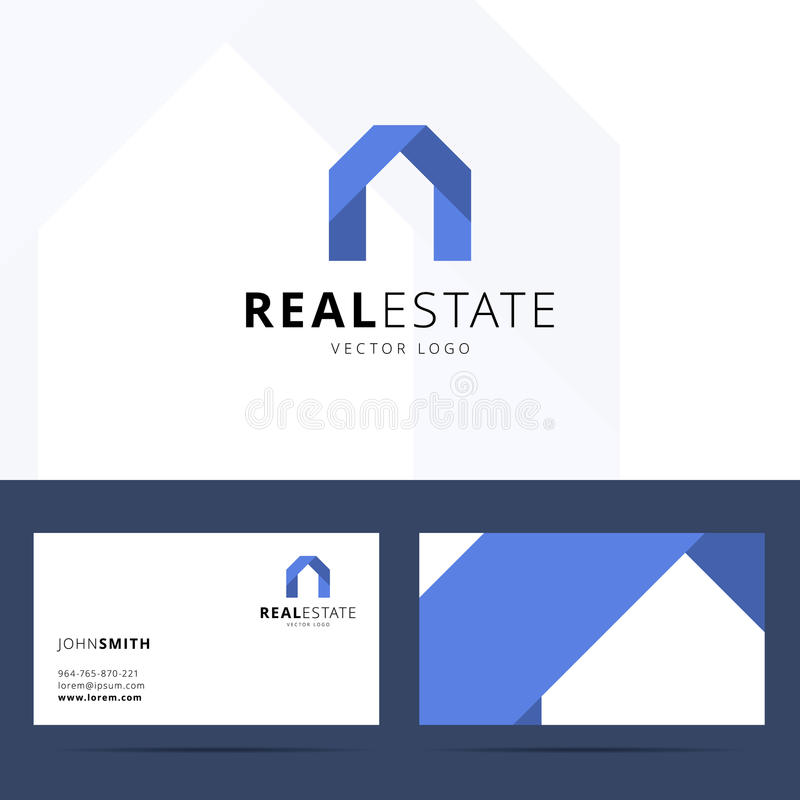 Molde do logotipo dos bens imobiliários ilustração do vetor