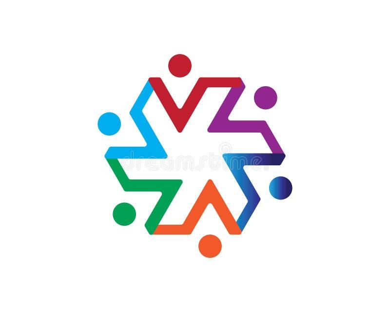Molde do logotipo dos cuidados comunitários ilustração royalty free