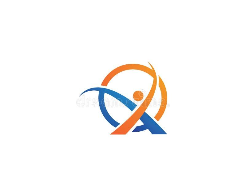 Molde do logotipo dos povos da letra x ilustração do vetor
