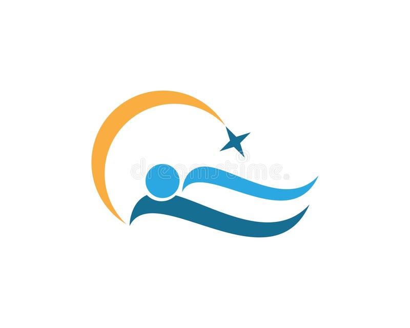 Molde do logotipo dos povos do sono ilustração stock