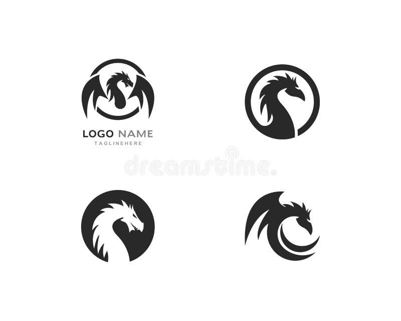 Molde do logotipo do dragão ilustração royalty free