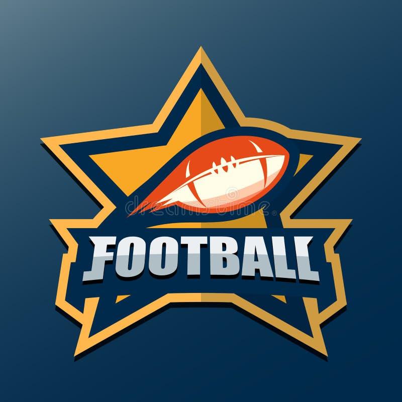 Molde do logotipo do futebol americano Logotipos Illustrati da faculdade do vetor ilustração royalty free