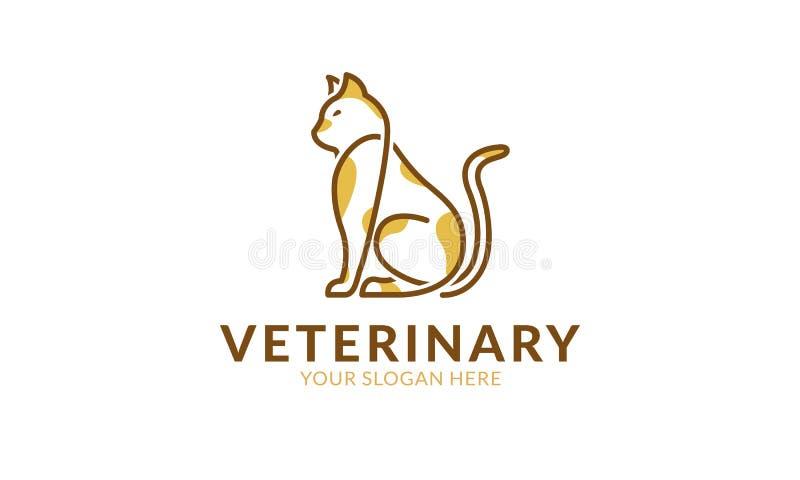 Molde do logotipo do gato ilustração do vetor