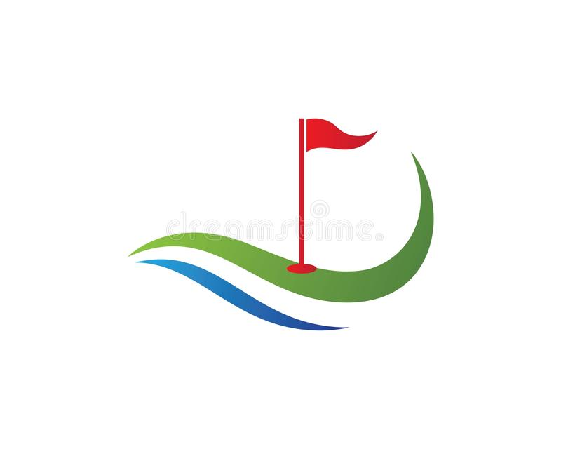 Molde do logotipo do golfe imagem de stock