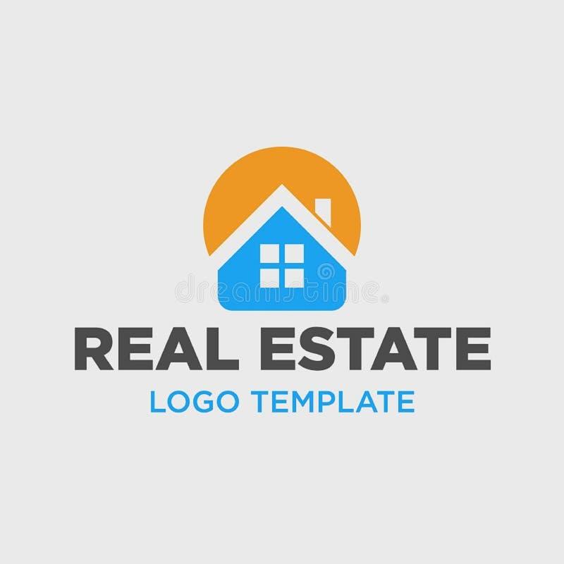 Molde do logotipo para a empresa de bens imobili?rios ilustração royalty free