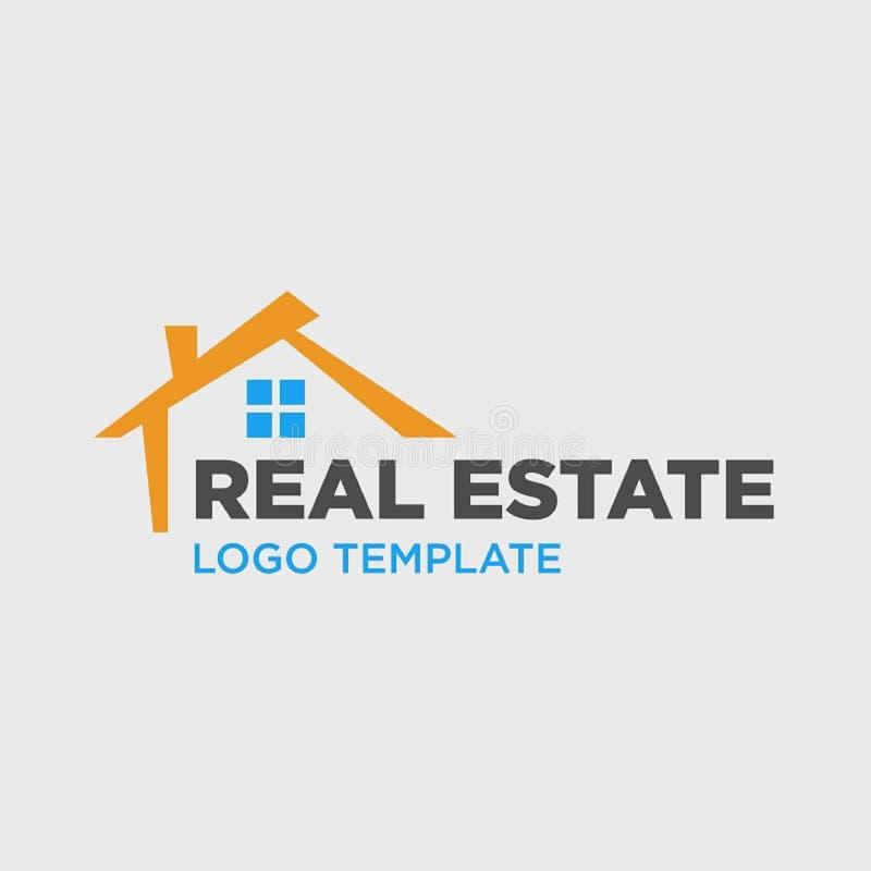 Molde do logotipo para a empresa de bens imobili?rios ilustração stock