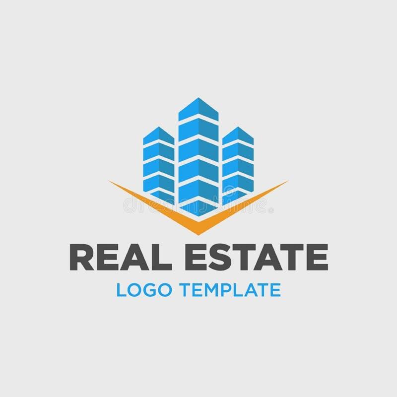Molde do logotipo para a empresa de bens imobili?rios ilustração do vetor