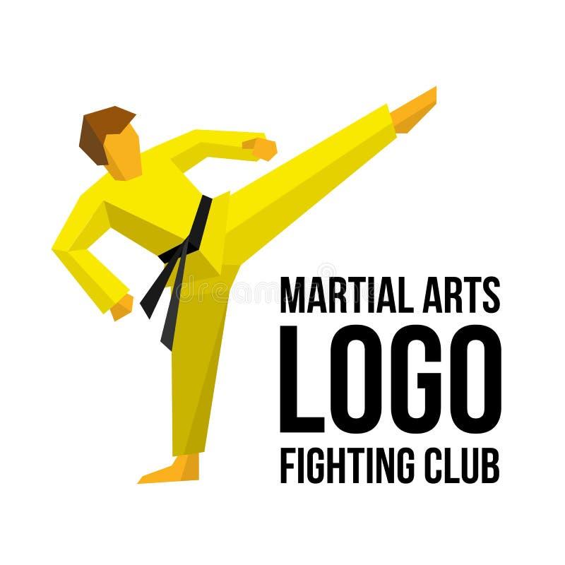 Molde do logotipo para o clube ou o gym das artes marciais ilustração stock