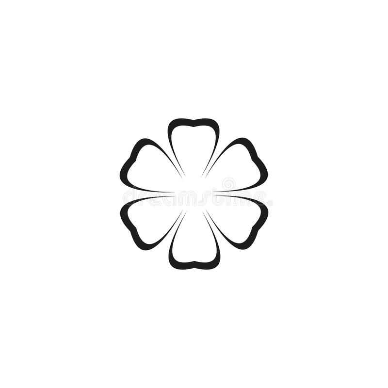 Molde do logotipo do projeto das flores do vetor da beleza ilustração royalty free