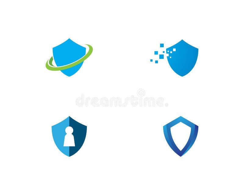Molde do logotipo do símbolo do protetor ilustração royalty free