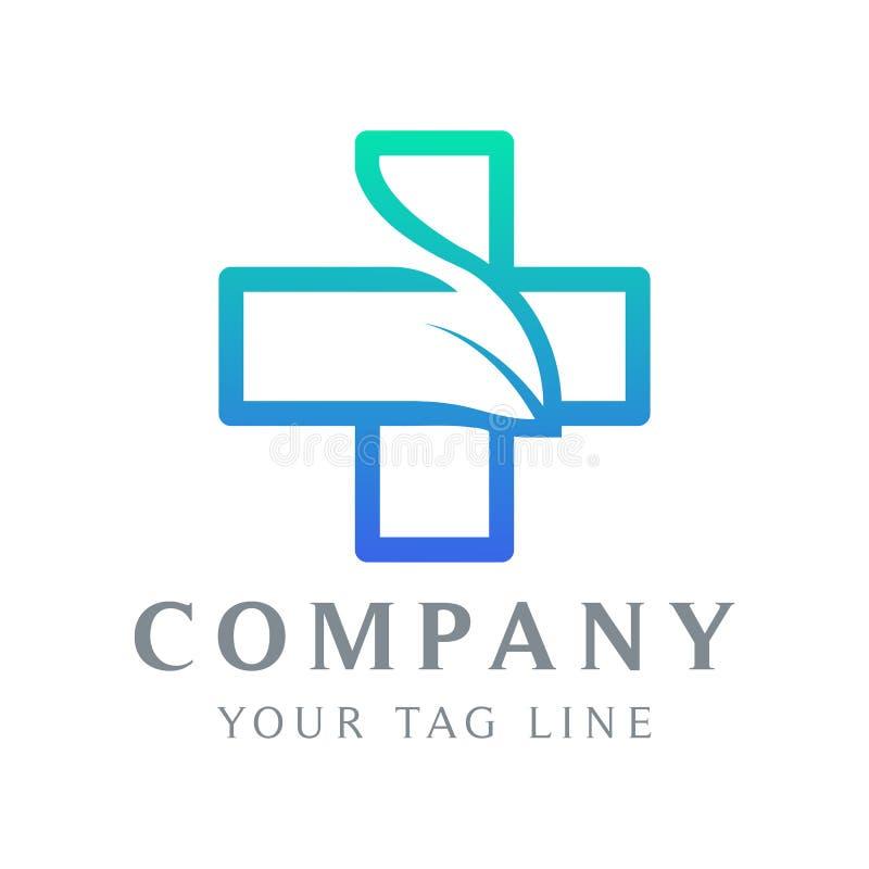 Molde do logotipo sob a forma de um sinal positivo ilustração do vetor