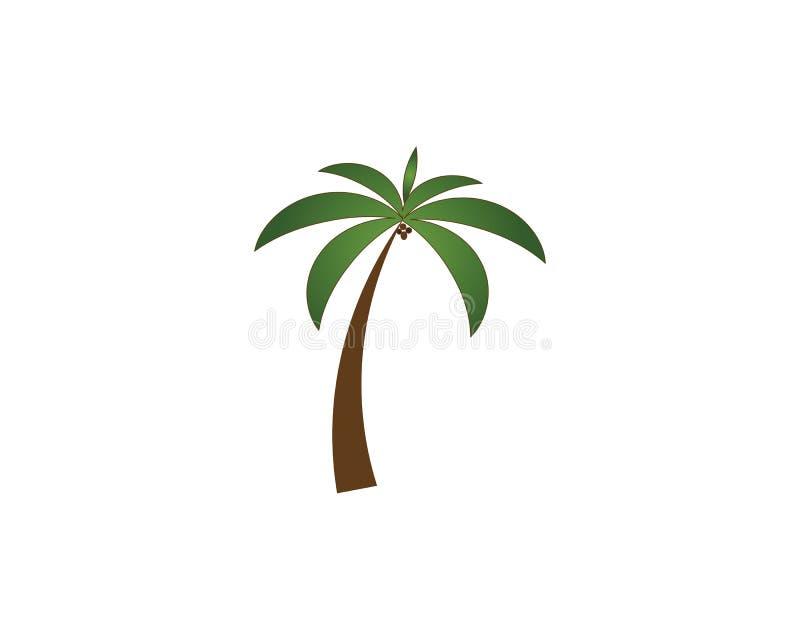 Molde do logotipo do ver?o da palmeira ilustração do vetor