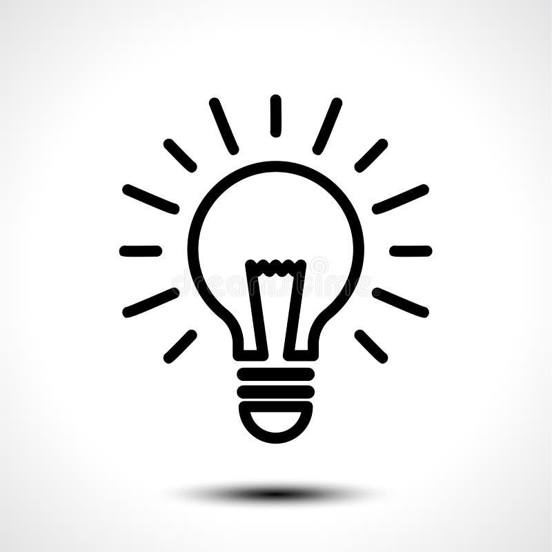 Molde do logotipo do vetor da ideia da ampola Ícone incorporado tal como o logotype ilustração do vetor