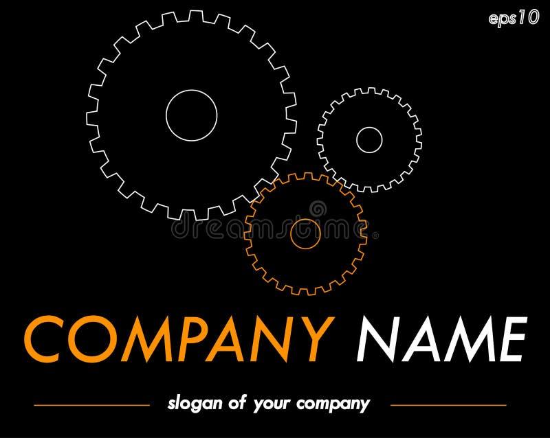 Molde do logotipo do vetor das engrenagens, logotype pronto para uma empresa ou um Br ilustração royalty free