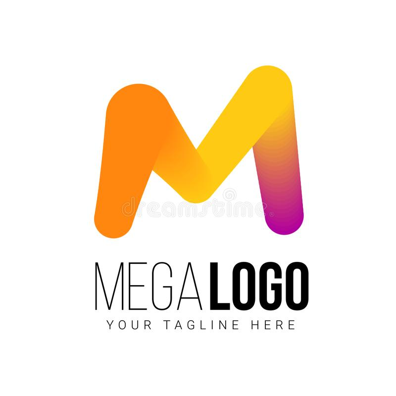 Molde do logotipo do vetor para sua empresa fotografia de stock